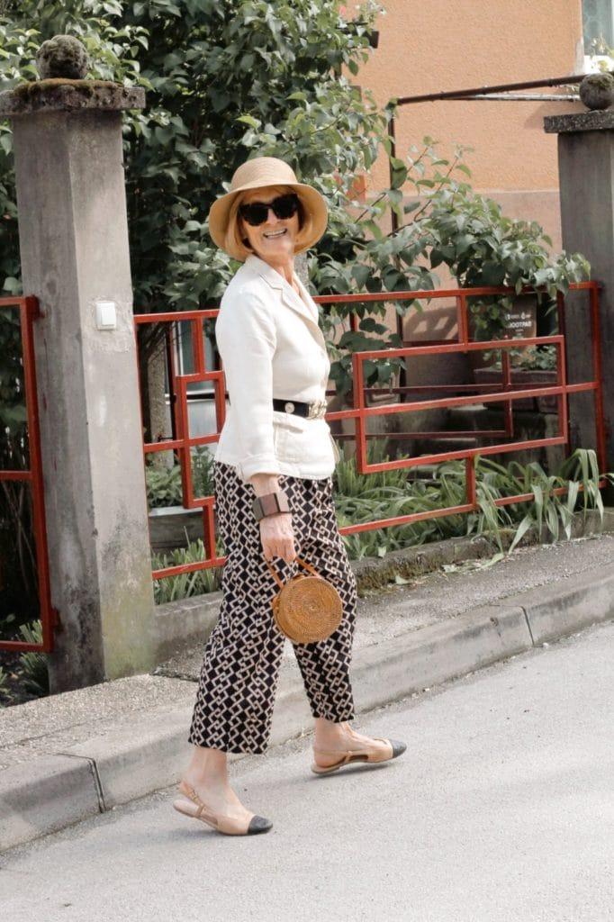 Woman posing on the street