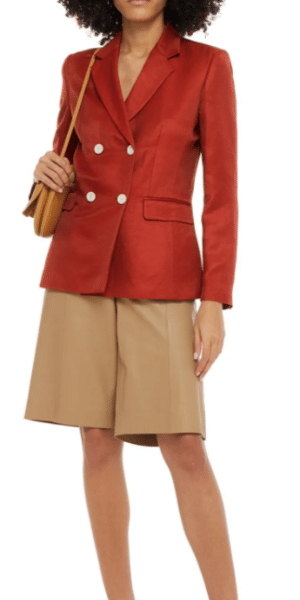Woman in a red blazer