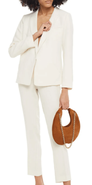Woman in a white suit