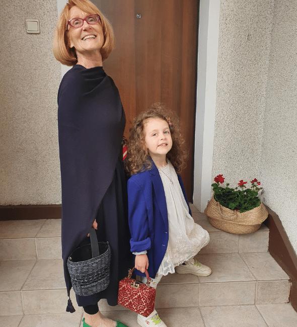 grandma and grandaughter posing